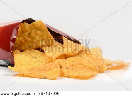 Open Bag Of Crisps A Ultra Processed Food