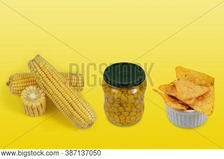Example Of A Fresh Product, Minimally Processed And Ultra-processed With Corn