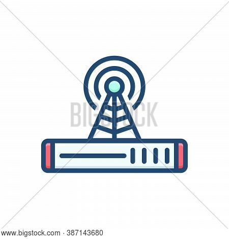 Color Illustration Icon For Signal Indication Technology Telecommunications Wifi Connection Network