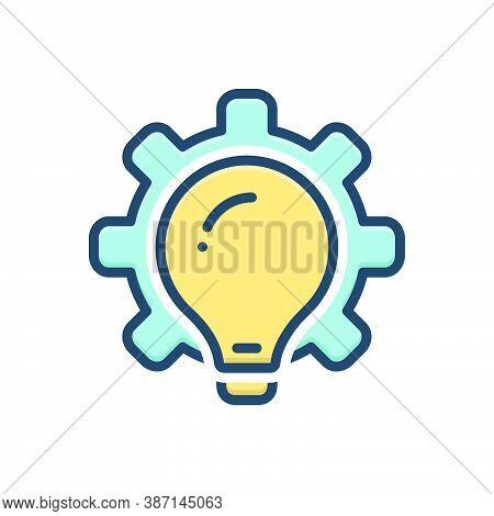Color Illustration Icon For Methodologies Brainstorm Plan Ideas Creativity Inspiration