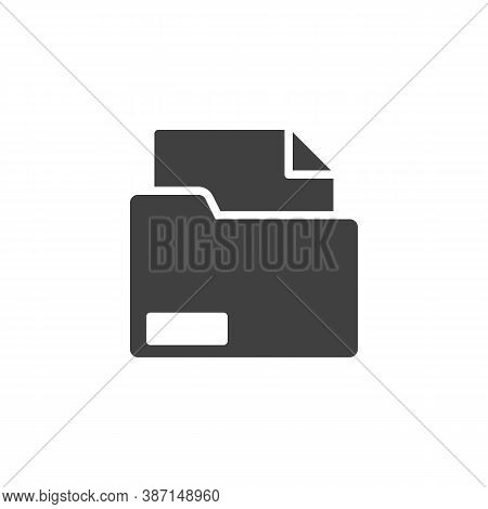 Archive Folder Vector Icon. Document Portfolio Filled Flat Sign For Mobile Concept And Web Design. F
