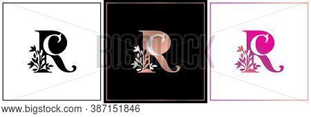 Rc Monogram, Initial Wedding , Logo Company, Icon Business, Sign, Cr Symbol With Variation Three Des