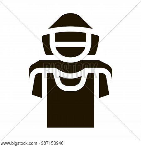 T-shirt Shoplifter Concept Glyph Icon Vector. T-shirt Shoplifter Concept Sign. Isolated Symbol Illus