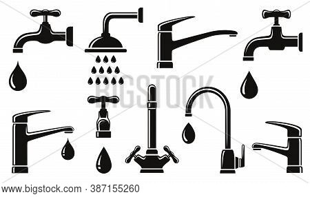 Plumb Set Of Isolated Modern Tap Icons