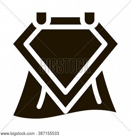 Emblem Hero Symbol Glyph Icon Vector. Emblem Hero Symbol Sign. Isolated Symbol Illustration