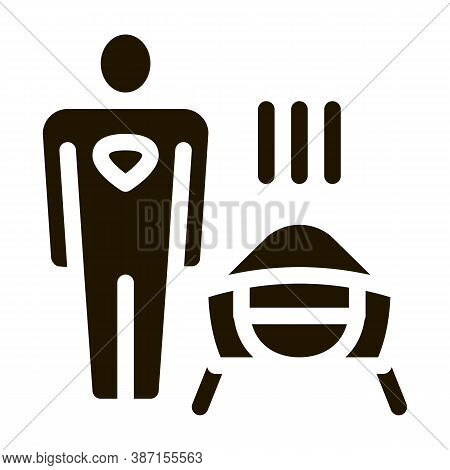 Face Mask Super Hero Glyph Icon Vector. Face Mask Super Hero Sign. Isolated Symbol Illustration