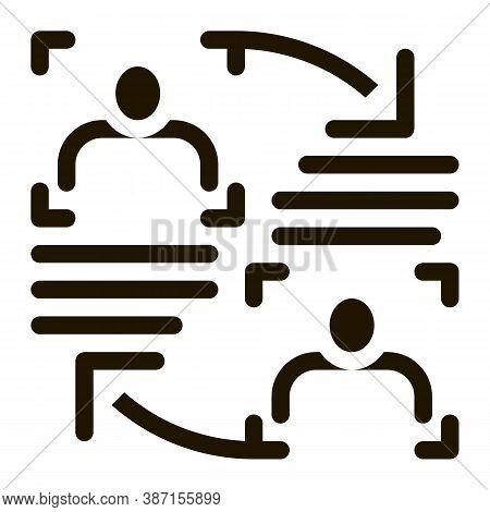 Personality Information Comparison Glyph Icon Vector. Personality Information Comparison Sign. Isola