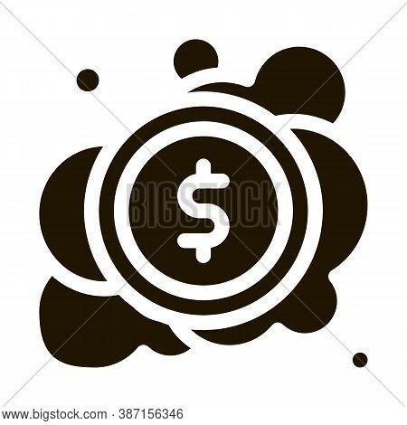 Laundered Cash Money Glyph Icon Vector. Laundered Cash Money Sign. Isolated Symbol Illustration