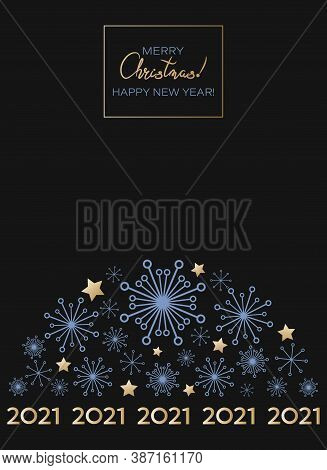 2021 Christmas Greeting Card. Happy New Year. Merry Christmas. Christmas Greeting Card. Winter Holid