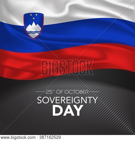 Slovenia Happy Sovereignty Day Greeting Card, Banner, Vector Illustration