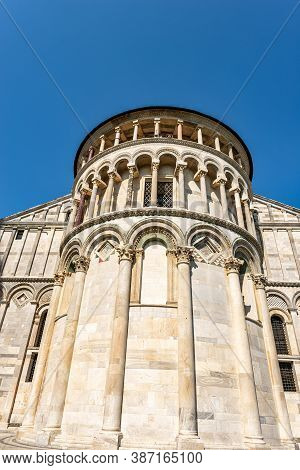 Pisa Cathedral (duomo Di Santa Maria Assunta) In Pisan Romanesque Style. Square Of Miracles (piazza