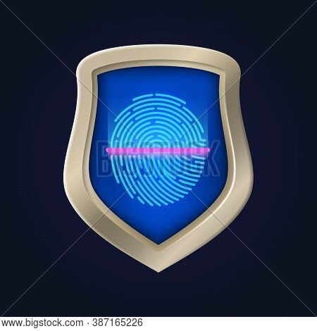 Personal Safety. Fingerprint Verification And Data Protection. Identification And Proof Of Identity.