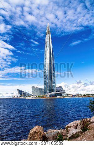 Saint Petersburg / Russia - September 8 2020: Lakhta Center, Lahta, Lachta Headquarters Office Of Th