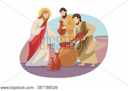 Religion, Christianity, Bible Concept. Jeus Christ Son Of God Christian Biblical Religious Character