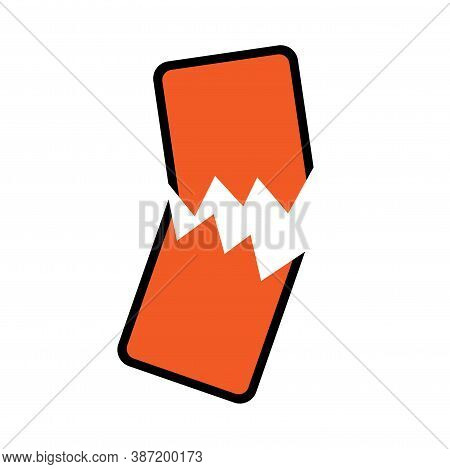 Stop Hate For Profit Concept With Broken Mobile Phone. Social Media Boycott Campaign Against Hate, B