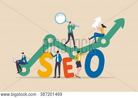 Seo, Search Engine Optimization For Website To Show In Search Result Page Concept, Professional Peop