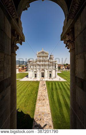 Pisa, Cathedral (duomo Di Santa Maria Assunta) And Leaning Tower. Piazza Dei Miracoli (square Of Mir