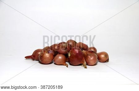 The Shallots Isolate On The White Background.