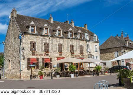 Meursault, Burgundy, France - July 9, 2020: Medieval House In Meursault, Burgundy, France