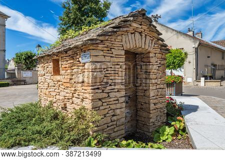 Meursault, Burgundy, France - July 9, 2020: Wine Cabana In Meursault, Burgundy, France