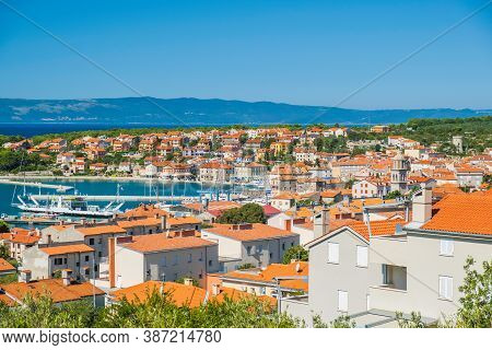 Old Town Of Cres On The Island Of Cres In Croatia, Beautiful Adriatic Seascape