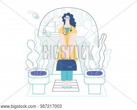 Medical Insurance Template -home Medical Assistance -modern Flat Vector Concept Digital Illustration