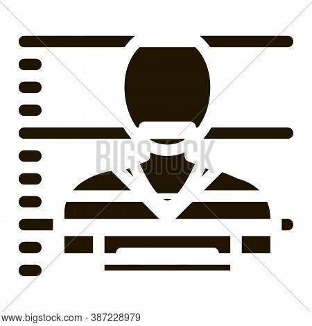 Criminal Bandit Photo Glyph Icon Vector. Criminal Bandit Photo Sign. Isolated Symbol Illustration