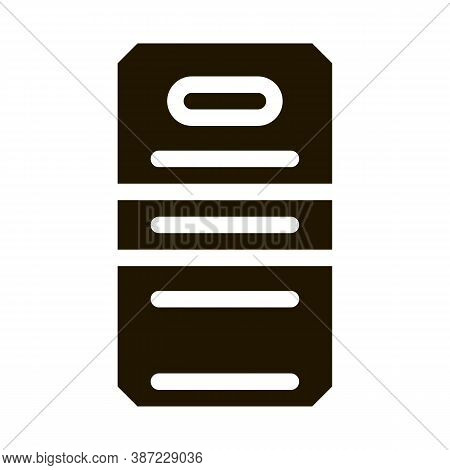 Police Officer Shield Glyph Icon Vector. Police Officer Shield Sign. Isolated Symbol Illustration