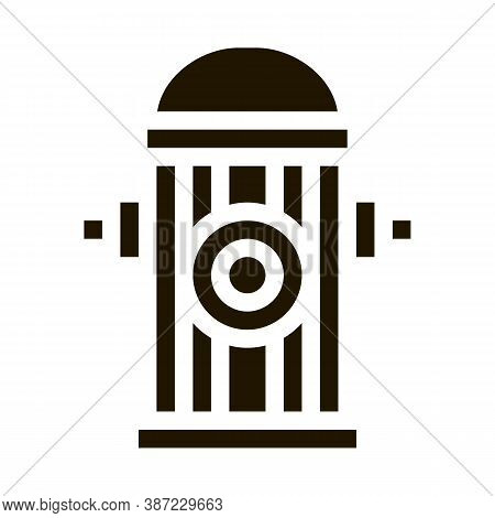 Fire Street Hydrant Glyph Icon Vector. Fire Street Hydrant Sign. Isolated Symbol Illustration