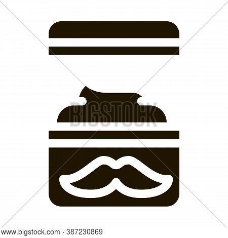Shaving Cream Container Glyph Icon Vector. Shaving Cream Container Sign. Isolated Symbol Illustratio