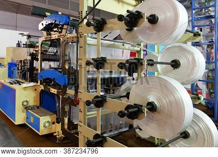 Automated Production Line Plastic Bag Industrial In Exhibition Machinery And Technology