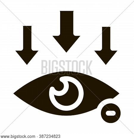 Eye And Arrows Eyesight Glyph Icon Vector. Eye And Arrows Eyesight Sign. Isolated Symbol Illustratio
