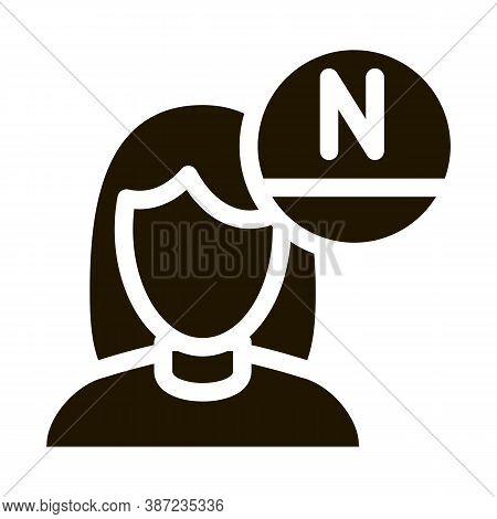 Woman Rejuvenate Vitamin Glyph Icon Vector. Woman Rejuvenate Vitamin Sign. Isolated Symbol Illustrat