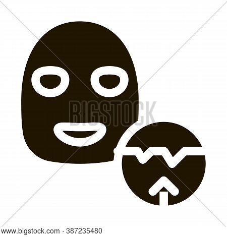 Wrinkle Smoothing Mask Glyph Icon Vector. Wrinkle Smoothing Mask Sign. Isolated Symbol Illustration