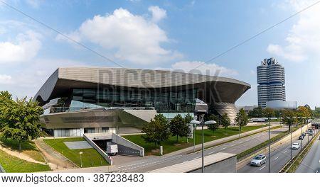 View Of The Bmw Museum And Headquarters In Munich