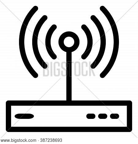 Wireless Router Icon In Line Style. Internet Modem Sign. Wireless Network Switch Symbol.