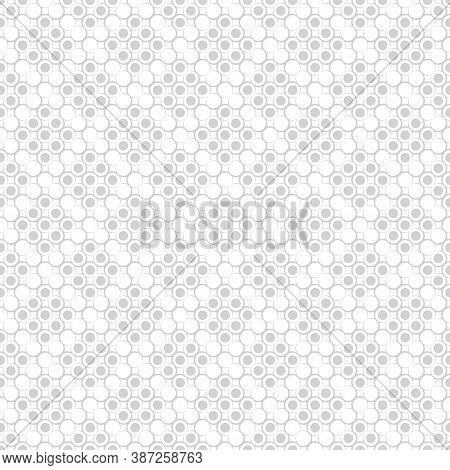 Seamless Pattern. Modern Stylish Texture. Infinitely Repeating Geometrical Texture With Dots, Outlin