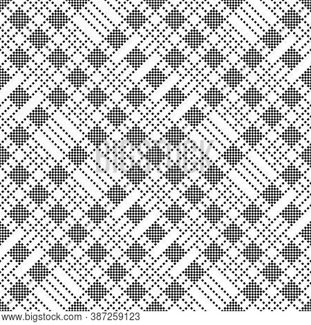 Vector Seamless Pattern. Infinitely Repeating Stylish Elegant Texture Consisting Of Small Rhombuses