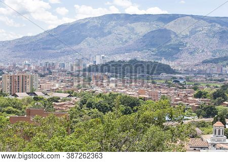 Medellín, Antioquia / Colombia - August 25, 2018. Overview Of The City Of Medellin. Medellin Is A Mu