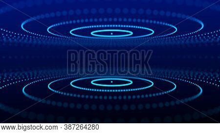Abstract Background With Connecting Dots And Lines. Futuristic Particles Background. Big Data Visual