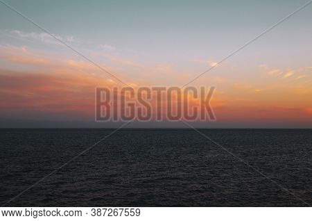 Sunset. Beautiful Sunset Baltic Sea. Painting Sea Sunset. The Sea At Sunset. Amazing Sea Sunset.