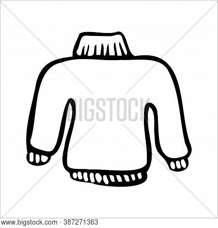 Cozy Clothes: Pullover. Doodle Style Graphic Elements