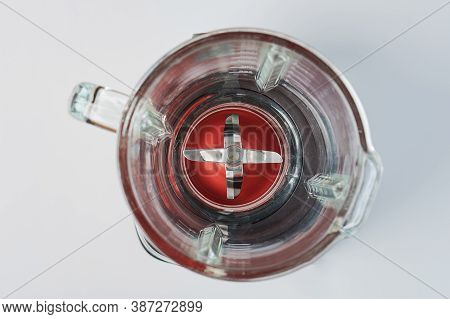 Glass Cup With Blades