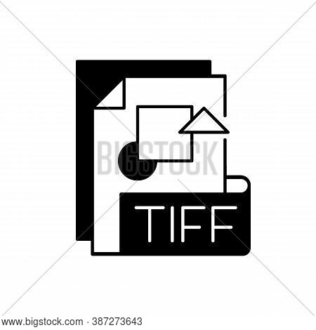 Tiff File Black Linear Icon. Tagged Image File Format. Tif. Lossless Compression. Image Integrity An