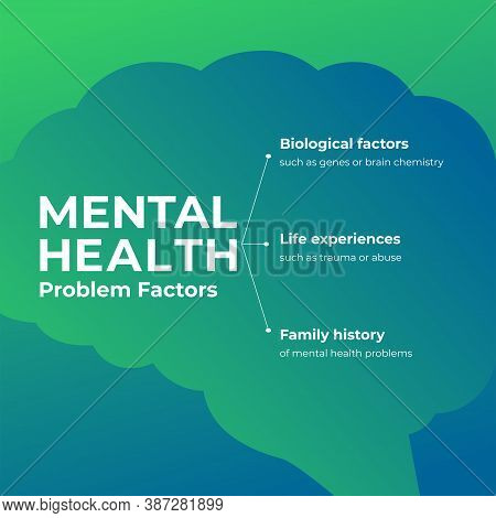 Design For World Mental Health Day. Annual Campaign. Raising Awareness Of Mental Health. Control And