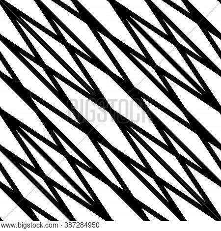 Diagonal Lines Grid Seamless Pattern. Angled Stripes Ornament. Linear Motif. Pinstripes Print. Strip