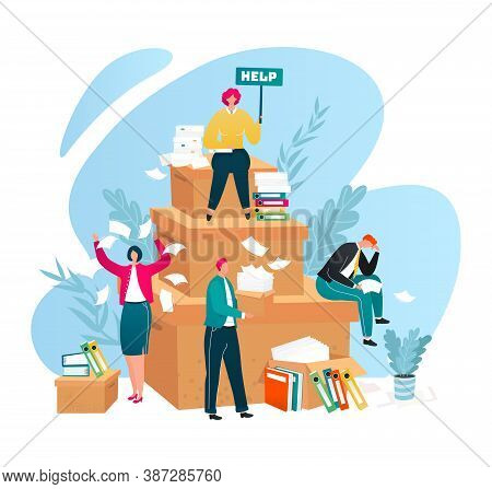 Audit Help, Finance Consulting Service For Business Isolated Vector Illustration. Professional Advic