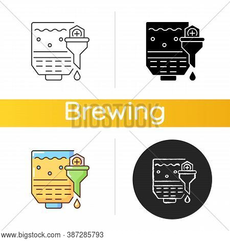Mashing Icon. Brewery Production. Industrial Appliance To Produce Beer And Ale. Manufacturing Proces