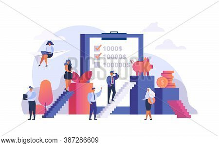 Increase Profit, Money Investment, Financial Growth Vector Illustration. Progress In Income Or Tradi