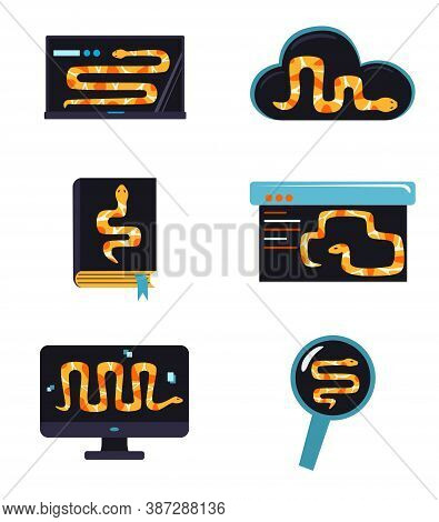 Python Code Language Sign. Programming Coding And Developing Concept. Software Development. Programm